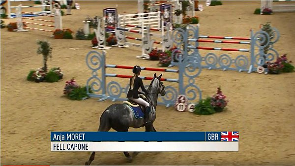 Anja Moret & Fell Capone Newcomers Final at the Horse Of The Year show..JPG